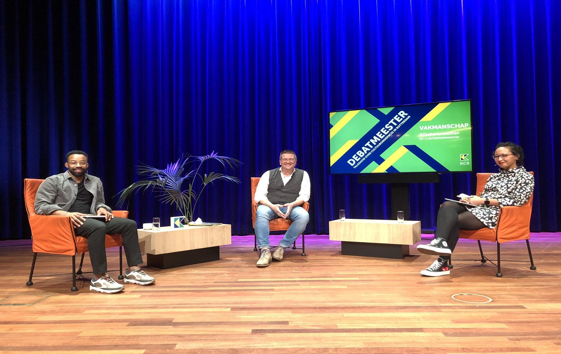 plaatje van Iko Doeland in talkshow over Vakmanschap